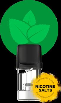 Peppermint capsule. Nicotine salts